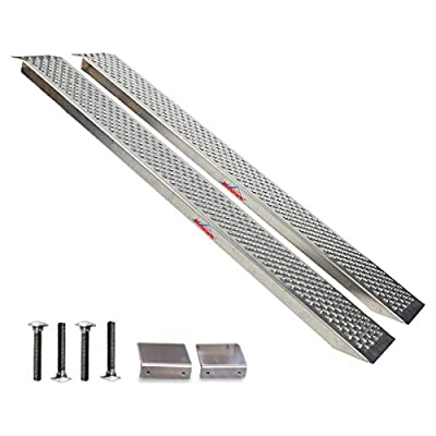 Ruedamann 4' Aluminum Loading Ramp for ATV,Motorcycle,Truck,Quad,Lawn Mower,Snow Blower and More, 1500 lb Capacity (AR20)