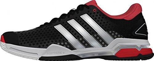 Adidas Barricade Team 4, M21705, Tennisschuh, schwarz/rot, UK (7.5)