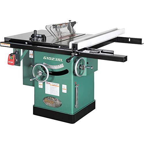 "Grizzly Industrial G1023RL - 10"" 3 HP 240V Cabinet Table Saw"