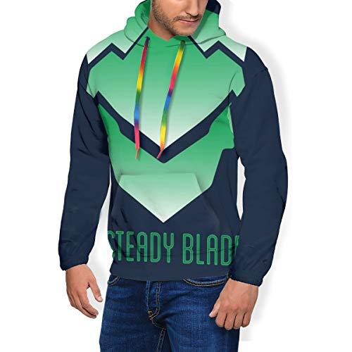 Genji A Steady Blade Ov-erwatch Herren Fashion Sweatshirt Kapuzenpullover Taschen plus Samt Gr. Small, Schwarz