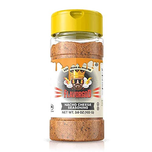 Healthy FlavorGod Nacho Cheese Seasoning - Zero Calories, Low Sodium, Zero Carbs, Zero Sugar, No MSG, Gluten Free, Kosher