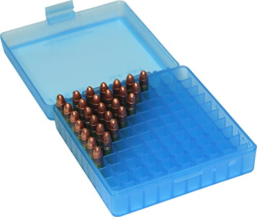 MTM P-100-22-24 22-Long Rifle 100 Round Flip-Top Ammo Box