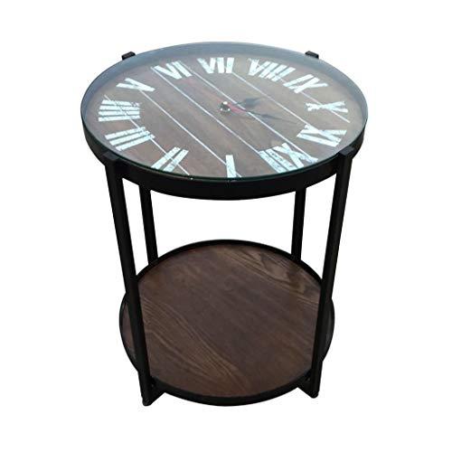 BHP Beistelltisch Beistelltisch mit Uhr, MDF braun Eschenfurnier