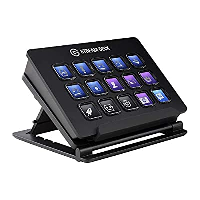 Elgato Stream Deck - Live Content Creation Controller with 15 Customizable LCD Keys, Adjustable Stand, for Windows 10 and macOS 10.13 or late from Elgato Direct