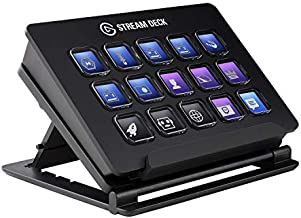 Elgato Stream Deck - Live Content Creation Controller with 15 Customizable LCD Keys, Adjustable Stand, for Windows 10 and macOS 10.13 or Late (10GAA9901)
