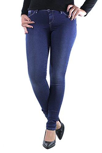Tiffosi One_Size_UP_3 Vaqueros Slim, Azul (Blue), Única para Mujer