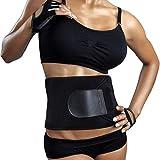 Bluee Sweat Waist Belt | Belly Tummy Yoga Wrap Black Exercise Body Slim Look Belt -Free Size