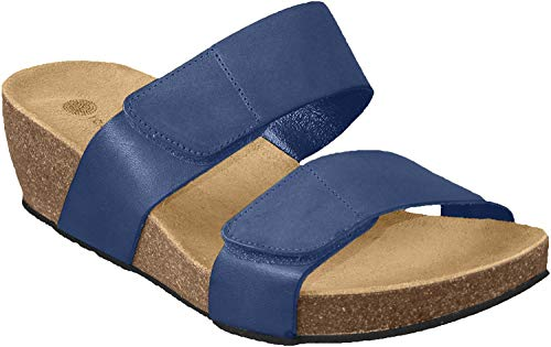 Eric Michael Women's Serena Slip-On Zip Loafer, Navy Perf, 38 M EU