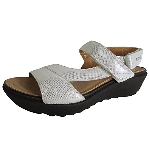 Mobils Ergonomic Womens Franca Wedge Sandal Shoe, White Liz, US 8
