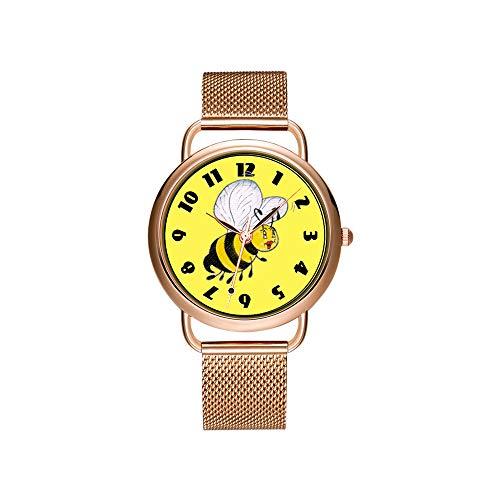 Reloj de Pulsera para Mujer, Correa de Malla, ultradelgada, Resistente al Agua, de Cuarzo, para Navidad, Yogur, Reptilian