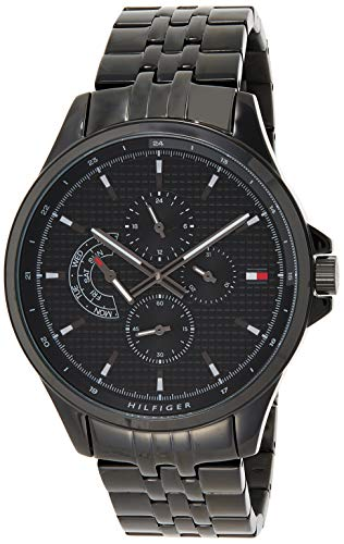 Tommy Hilfiger Herren Multi Dial Quartz Uhr mit Edelstahl Armband 1791611