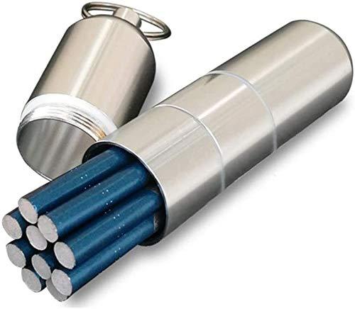 Estuche de Cigarrillos de aleación de Aluminio Portátil Impermeable al Aire Libre Desmontable Unisex Caja de Cigarrillos Larga y Delgada con Anillo de Sellado Sostiene 10 Cigarrillos Finos-Plata_