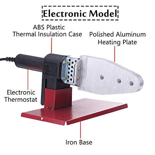 NICOLIE Máquina de Soldadura de tubería de Tubo de calefacción eléctrica automática PPR PE PP con Caja de Soporte de Seis Cabezas - B