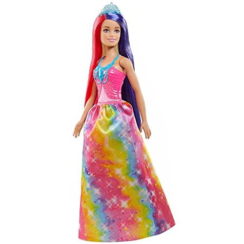Barbie Dreamtopia Bambola Principessa da circa 30cm con Lunghissimi Capelli Fantasia e Accessori, Giocattolo per Bambini 3+Anni,GTF38