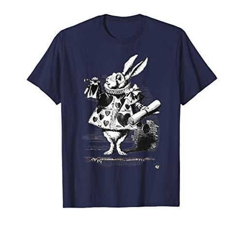 Weißer Hase Party Kostüm Alice im Wunderland Hase Kaninchen T-Shirt