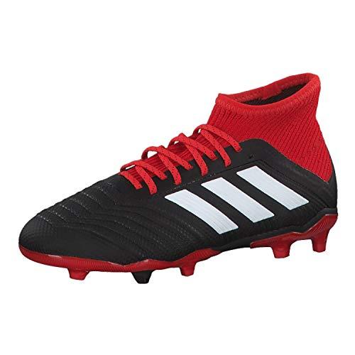 adidas Predator 18.1 FG J, Zapatillas de Fútbol Unisex Niños, Negro (Cblack/Ftwwht/Red Cblack/Ftwwht/Red), 30 EU