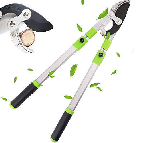 FeelGlad Telescopic pruning shears, Adjustable Heavy Duty Tree Trimmer,Extendable up to 700mm to 1050mm Long for Trimming Borders, Boxwood, and Tall Bushes