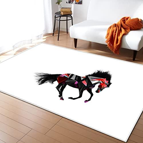 NHhuai Tappeto di Design per Salotto Arredamento A Pelo Corto Motivo Creativo Quadrato Dipinto Soggiorno Tappeto Camera da Letto Sala da Pranzo