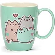 Enesco 4060150 Pusheen The Cat Pastel Stoneware Mug, 12 oz., Green