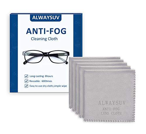 ALWAYSUV 5 Pack Mikrofaser Antibeschlag-Reinigungstuch für Brillengläser Telefone Bildschirme Kamera Besteck Alle anderen empfindlichen Oberflächen Wiederverwendbare Reinigungstücher