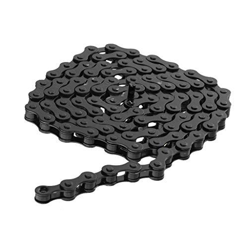 Gwgbxx 96 Enlaces de 1/2' x 1/8' Cadena de Bicicleta Fija Cadenas Gear Pista de BMX de una Velocidad de Bicicletas Ciclismo Accesorios Multicolors (Color : Black)