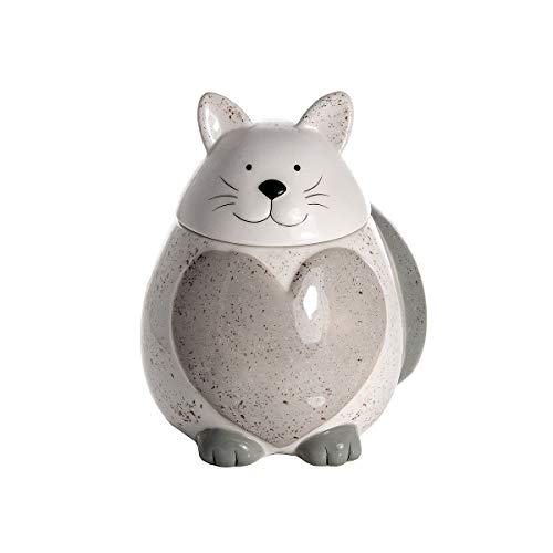 Tarro de Galletas Original, Bote para Galletas en Cerámica con Forma de Gato, Tarro Grande de Cocina con Tapa, Regalo Decorativo con Forma de Gato