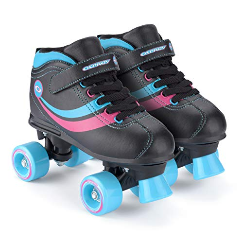 Toyrific Chica Patines Retro, Color Negro Black/Blue/Pink/White, Talla 32