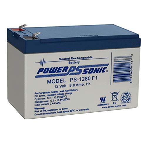 Power Sonic 12V 8AH F1 SLA Replacement Battery for Tennis Tutor Junior Prolite