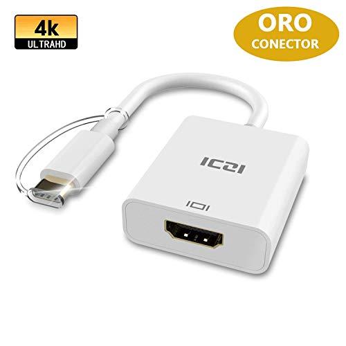 ICZI Adaptador USB Tipo C a HDMI 4K, Conversor USB C a...