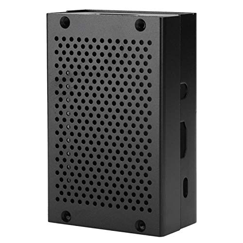 Cooling Box Case Vent Surface Strong and Durable Enclosure Aluminum Alloy Cooling Protective Box Mesh Shell Metal Shell Compatible with Pi 3/2/B/B+