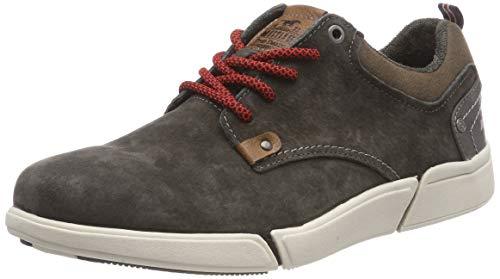 MUSTANG Herren Schnürhalbschuh Sneaker, Grau (dunkelgrau 20), 42 EU