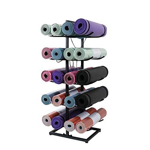 LLFF Estante Almacenamiento Yoga Estante de Almacenamiento de Estera de Yoga, Estante de Colocación de Estante de Almacenamiento de 20 Esterillas de Yoga, Estudio de Yoga o Gimnasio Comercial