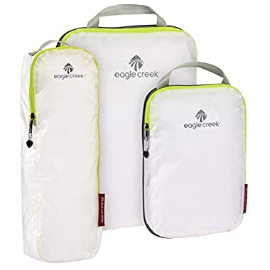 Eagle Creek Pack-It Specter Compression Cube Set with Tube Cube, White/Strobe