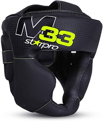 Starpro M33 Boxen Kopfschutz   Boxhelm mit Gesichtsschutz   Für Boxen Sport, Kickboxen, MMA, Krav MAGA und Muay Thai   Herren & Frauen   mit 180° Sicht und Gute Schweißaufnahme