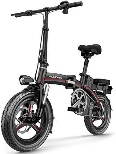 Electric Bike Electric Mountain Bike, Electric Bikes for Adults, Folding Bike 3 Modes 12-23AH 400W 48V 14 Inch with LCD Display Suitable for Men Women Teenagers for City Urban Commuting for the jungle