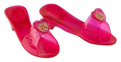 Princesas Disney - Zapatos de Bella Durmiente para niña, color rosa - Talla 4-6 años (Rubies 35354)