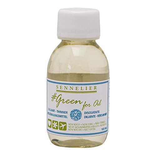 Sennelier Green for Oil Solvent-Free Thinner, 100ml (10-135201-100)