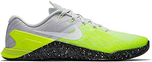 Nike metcon 3–Zapatillas de gimnasia, Hellgrau (Pure Platinum/Volt/Ghost Green/Black), 38,5