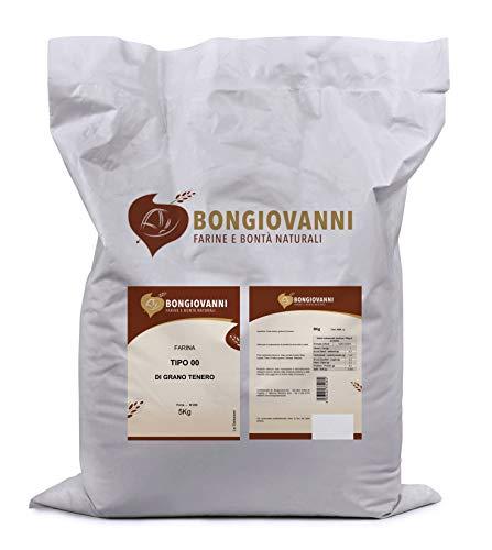 BONGIOVANNI FARINE e BONTA' NATURALI Farina Tipo 00 di grano Tenero, per Prodotti da Forno Dolci e Salati - Formato da 5kg