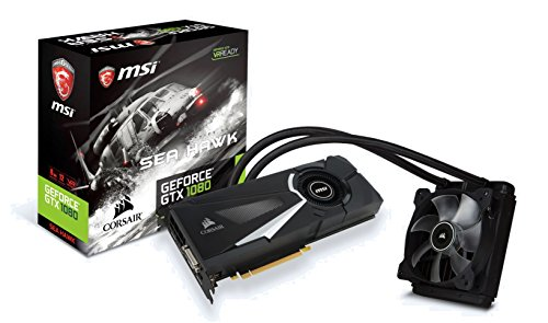 MSI GeForce GTX 1080 Sea Hawk X Watercooled Scheda Grafica, Interfaccia PCIe 3.0, 8 GB GDDR5X, 256bit, 2560 Cuda Cores, Nero