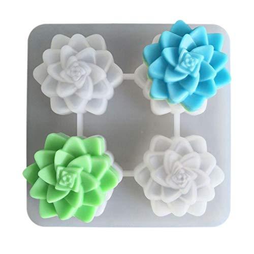 Verloco zeepvormpjes gemaakt van silicone, groene plantenvorm, chocoladevorm, bakvorm voor handgemaakte kaarsen en zeep