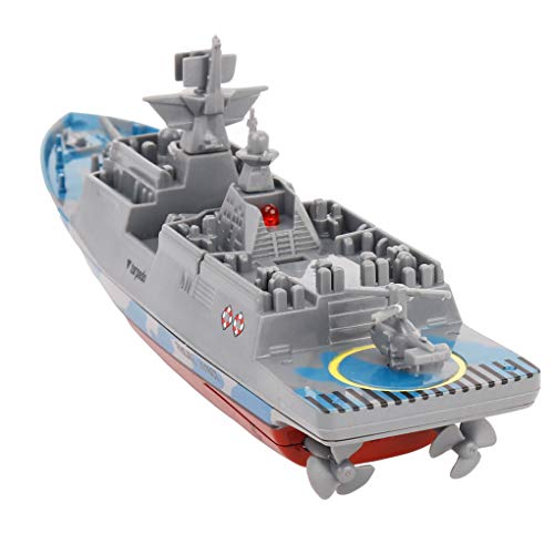 Firiodr Battleship RC Warship Remote Control Cruiser Speedboat Model Children Aircraft Carrier Toys
