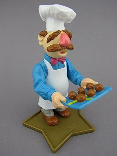 Jack in the Box Muppets Swedish Chef Figure Holding Tray