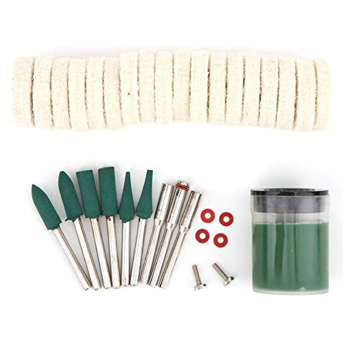 Gulakey 100Pcs for Rotary Wire Brushes Wheels Set 3.0Mm Shank for ccessories Wood Metalwoking Tools