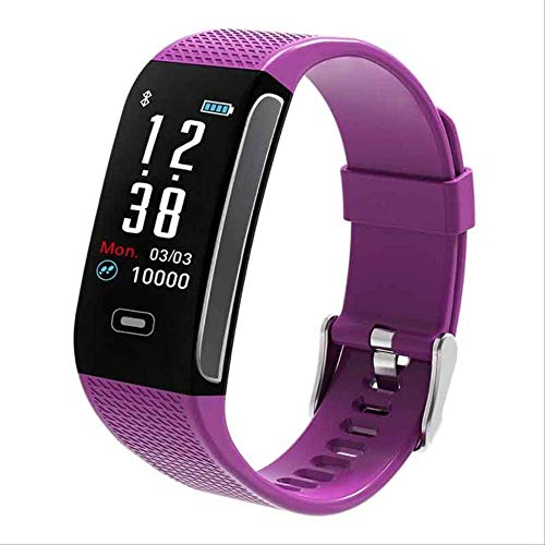 DAJUZI CK18S Smart Bracelet with Pressure Measurement Fitness Bracelet IP67 Waterproof Pedometer Sport Smart Wristband Clock SmartbandPurple