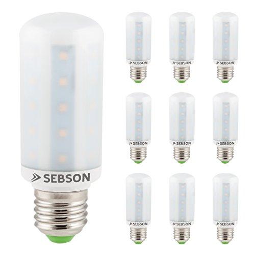 SEBSON LED Lampe E27 warmweiß 8W, ersetzt 60W Glühlampe, 810 Lumen, E27 LED SMD, LED Leuchtmittel 160°, 10er Pack