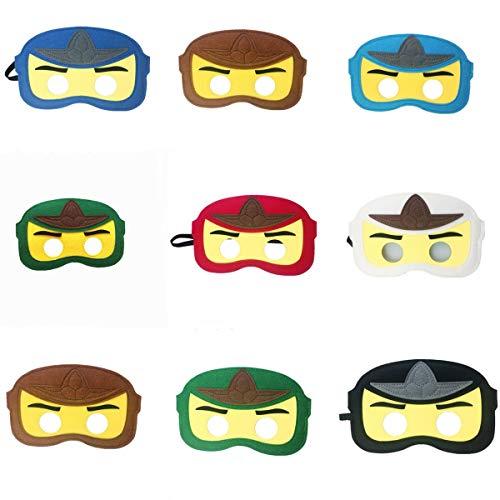 8pc Ninja Ninjago Felt Mask Kids Birthday Gift Cosplay Party Supplies Party Masks for Children
