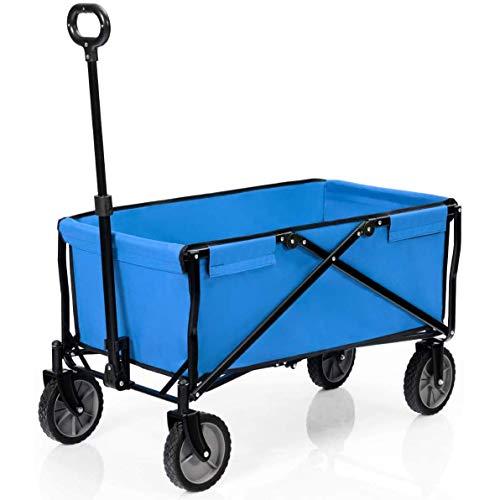 Z-SEAT Carro utilitario Plegable para Exteriores, Carro de Mano portátil para jardín Pesado, para Picnic en la Playa al Aire Libre, Compras, Camping, Picnic