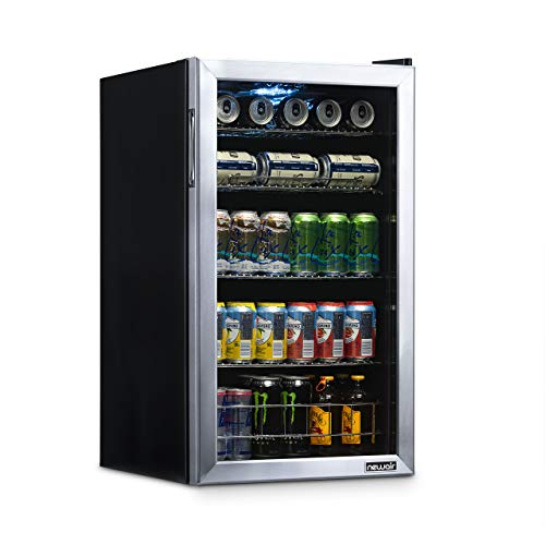 NewAir NBC126SS02 Beverage Refrigerator and Cooler, Holds up to 126 Cans, Cools Down to 37 Degrees Perfect for Beer Wine or Soda, Silver