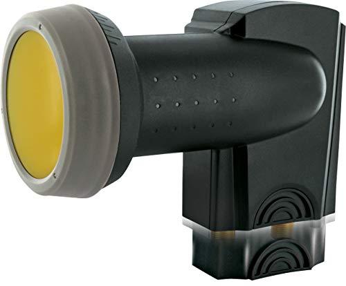 SCHWAIGER -340- Twin LNB mit Sun Protect, 2-Fach, digital (2 Teilnehmer), extrem hitzebeständige LNB Kappe, Einsatz mit Satellitenschüssel, multifeed-tauglich mit Wetterschutz, vergoldete Kontakte